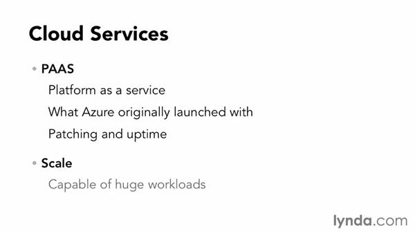 Overview of Cloud Services: Up and Running with Azure