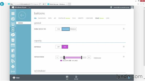 Scaling up our Azure mobile service: Up and Running with Azure Mobile Services
