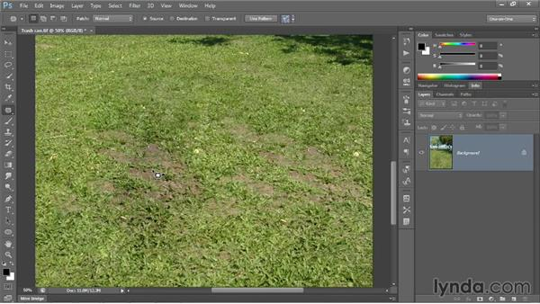 Introducing the Patch tool: Photoshop CC 2013 One-on-One: Intermediate