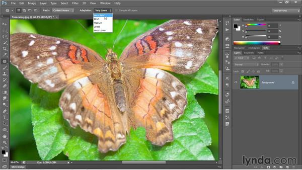 Retouching with Content-Aware Patch: Photoshop CC 2013 One-on-One: Intermediate