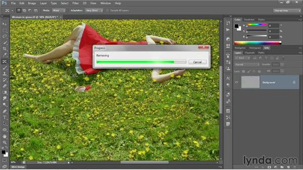Using the Content-Aware Move tool: Photoshop CC 2013 One-on-One: Intermediate