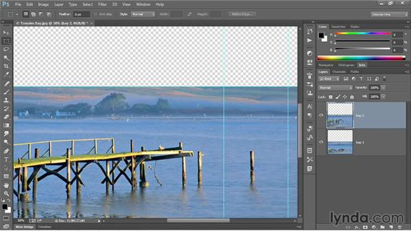 The Content-Aware Scale command: Photoshop CC 2013 One-on-One: Intermediate