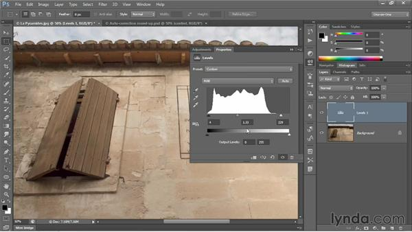 The new automatic Levels adjustment: Photoshop CC 2013 One-on-One: Intermediate