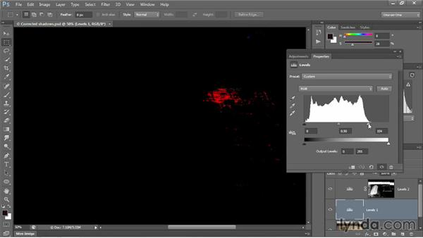 Previewing clipped pixels: Photoshop CC 2013 One-on-One: Intermediate