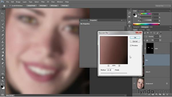Retouching with Output Levels: Photoshop CC 2013 One-on-One: Intermediate
