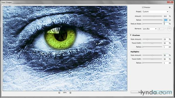 The Shadows/Highlights options: Photoshop CC 2013 One-on-One: Intermediate