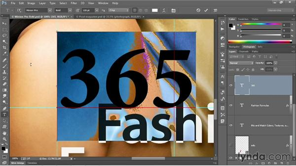 Type size and color tricks: Photoshop CC 2013 One-on-One: Intermediate