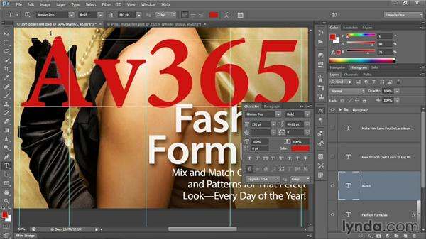 Kerning and tracking characters: Photoshop CC 2013 One-on-One: Intermediate