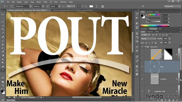 Creating and stylizing a logo: Photoshop CC 2013 One-on-One: Intermediate