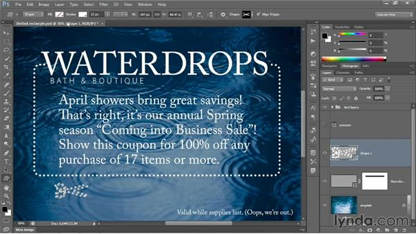 Drawing and aligning custom shapes: Photoshop CC 2013 One-on-One: Intermediate