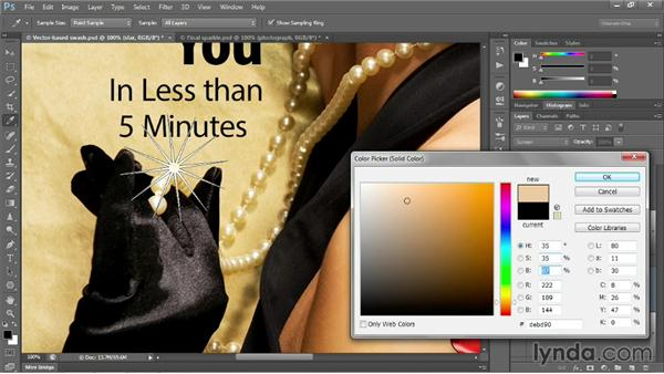 Creating a soft, synthetic sparkle: Photoshop CC 2013 One-on-One: Intermediate