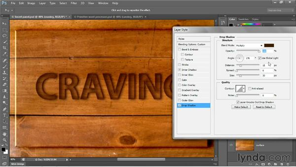 The power of the drop shadow: Photoshop CC 2013 One-on-One: Intermediate