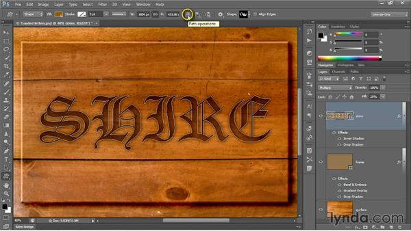 Modifying a layer and its effects: Photoshop CC 2013 One-on-One: Intermediate