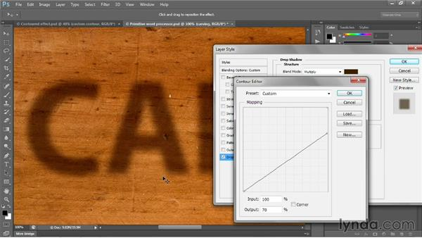 Creating a custom contour: Photoshop CC 2013 One-on-One: Intermediate