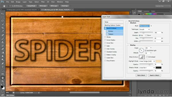 Introducing Bevel and Emboss: Photoshop CC 2013 One-on-One: Intermediate