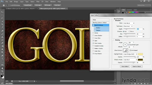Gloss and surface contour: Photoshop CC 2013 One-on-One: Intermediate