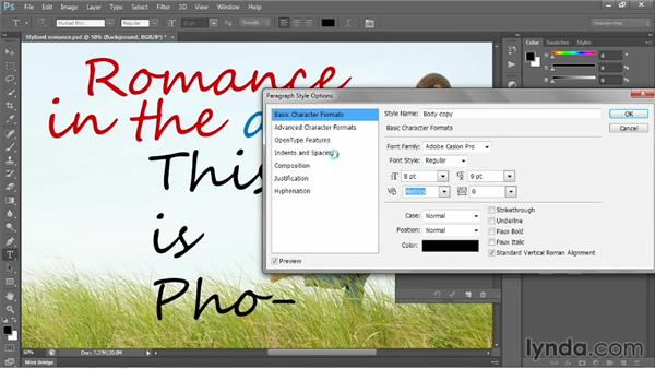 Creating and styling a placeholder style: Photoshop CC 2013 One-on-One: Intermediate