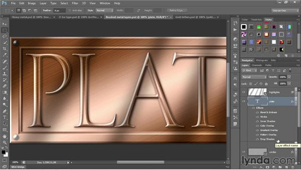 Loading and customizing layer styles: Photoshop CC 2013 One-on-One: Intermediate