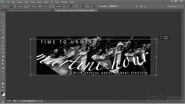 Warping a logo with Arc and Flag: Photoshop CC 2013 One-on-One: Intermediate