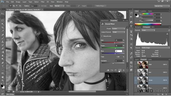 Creating a sienna-infused sepia tone: Photoshop CC 2013 One-on-One: Intermediate