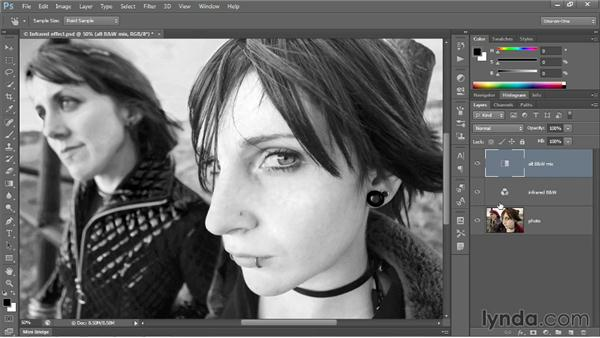 Black & White meets the Channel Mixer: Photoshop CC 2013 One-on-One: Intermediate
