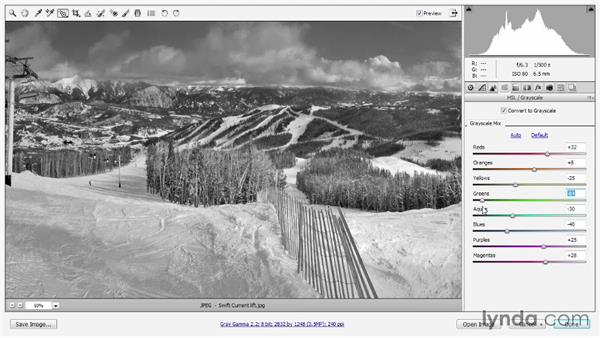 Grayscale and Split Tone in Camera Raw: Photoshop CC 2013 One-on-One: Intermediate
