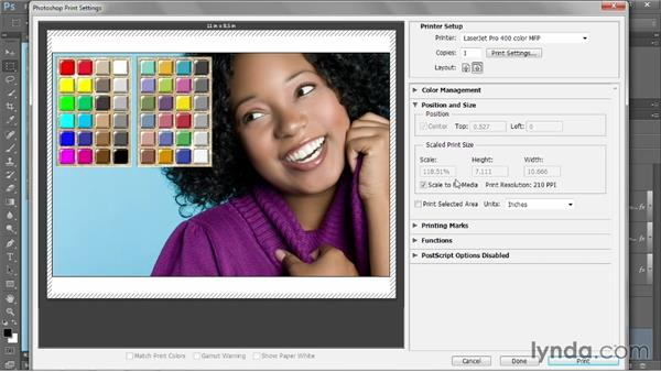 Print, position, and size: Photoshop CC 2013 One-on-One: Intermediate