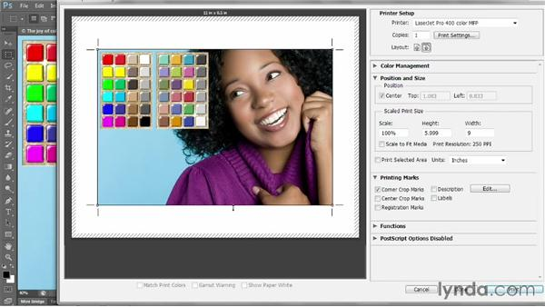 Description and printing marks: Photoshop CC 2013 One-on-One: Intermediate
