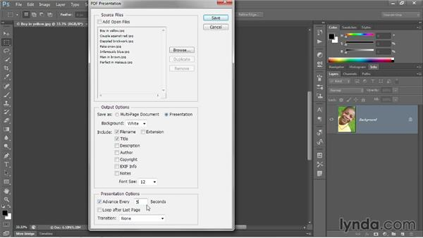Creating a multipage PDF: Photoshop CC 2013 One-on-One: Intermediate