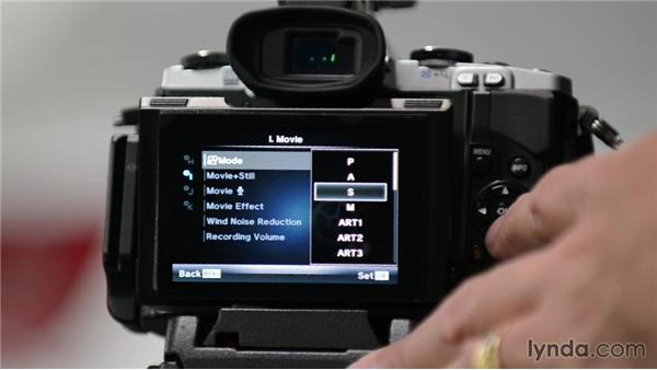 Setting your record options on an Olympus micro four-thirds camera: Up and Running with Micro Four-Thirds Cameras