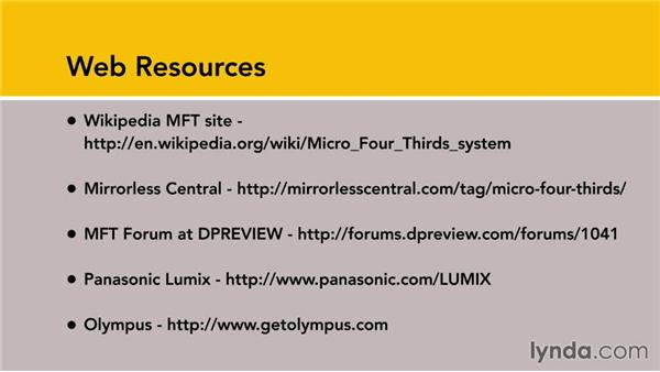 Micro four-thirds web resources: Up and Running with Micro Four-Thirds Cameras