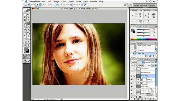 people - burning, sharpening: Enhancing Digital Photography with Photoshop CS