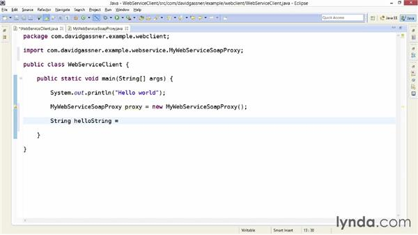 Calling the service from Java with JAX-WS: Foundations of Programming: Web Services