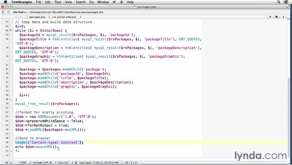 Creating a read-only web service in PHP: Foundations of Programming: Web Services