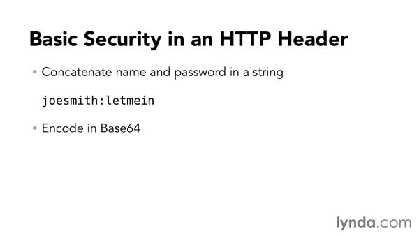 Securing web services with HTTP Basic security: Foundations of Programming: Web Services