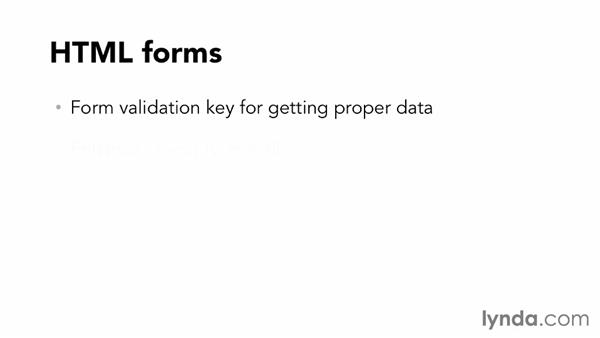 Interacting with data through HTML forms: Working with Data on the Web