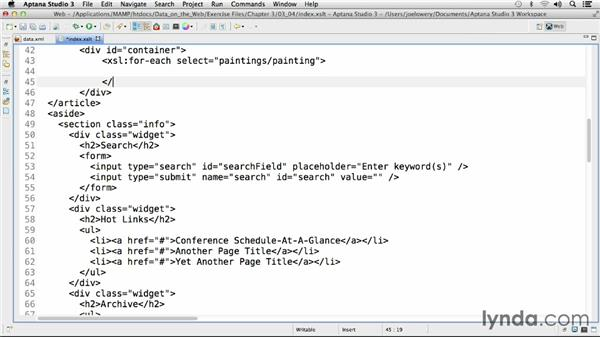 Enhanced styling with XSLT: Working with Data on the Web