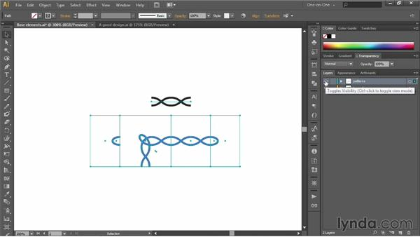 Creating and moving objects onto layers: Illustrator CC 2013 One-on-One: Intermediate