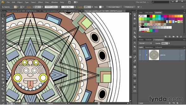 Creating and using global swatches: Illustrator CC 2013 One-on-One: Intermediate