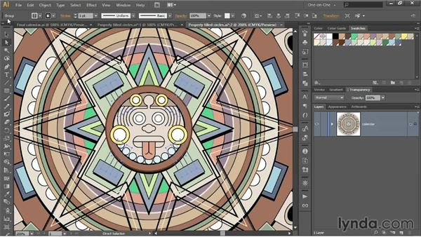 Assigning colors to paths inside groups: Illustrator CC 2013 One-on-One: Intermediate