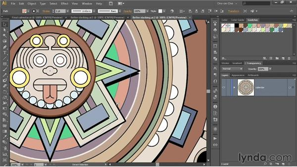 Selecting down a stack of paths: Illustrator CC 2013 One-on-One: Intermediate