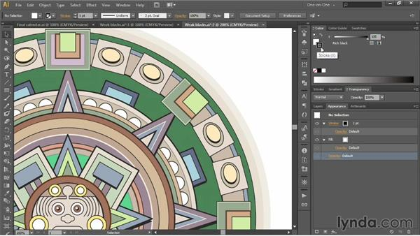 Trapping your art with rich blacks: Illustrator CC 2013 One-on-One: Intermediate