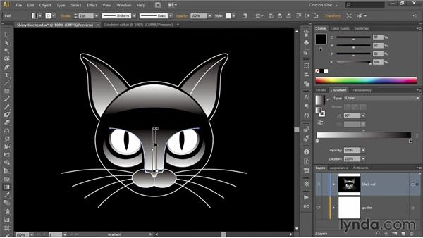 Using the Gradient tool and annotator: Illustrator CC 2013 One-on-One: Intermediate
