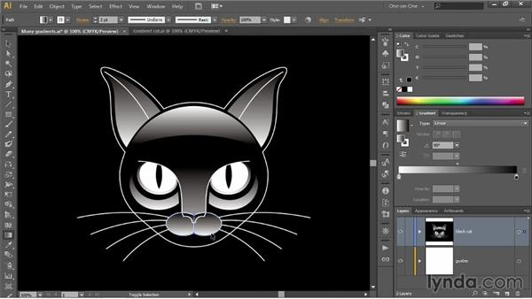 Editing multiple gradients at a time: Illustrator CC 2013 One-on-One: Intermediate