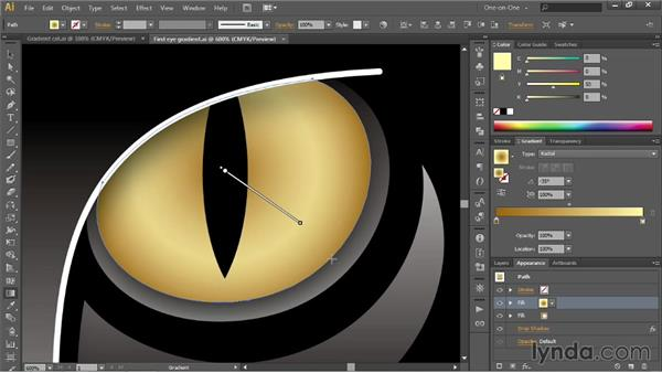 Mixing gradients with blend modes: Illustrator CC 2013 One-on-One: Intermediate