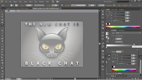 Assigning a gradient to editable text: Illustrator CC 2013 One-on-One: Intermediate