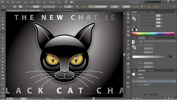 Editing text that includes dynamic effects: Illustrator CC 2013 One-on-One: Intermediate