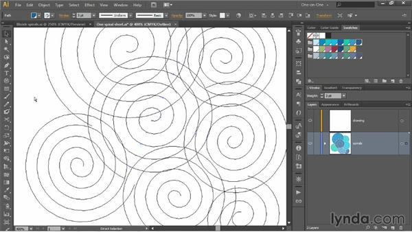 Assembling the raw ingredients for a pattern: Illustrator CC 2013 One-on-One: Intermediate