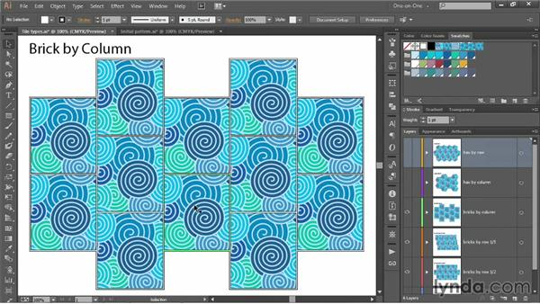 Tile types: Grid, Brick, and Hex: Illustrator CC 2013 One-on-One: Intermediate