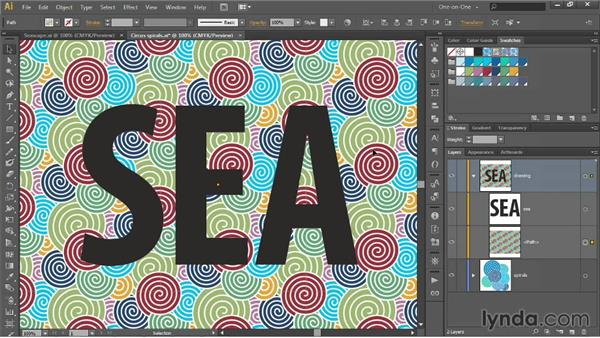 Applying patterns to strokes and text: Illustrator CC 2013 One-on-One: Intermediate